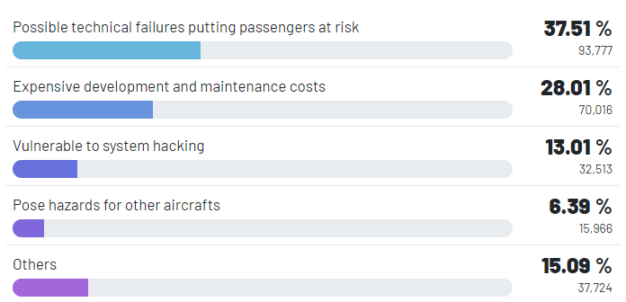 What could be the biggest disadvantage of drone taxi services?
